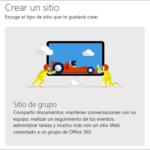 Crear un sitio en SharePoint